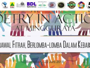 Poetry in Action at Mingguraya Juni 2018